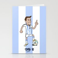 messi Stationery Cards featuring Lio Messi by 6312man