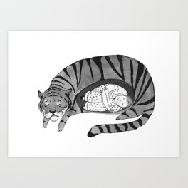 Big Cat Nap  Art Print