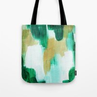 emerald Tote Bags featuring Emerald by Patricia Vargas