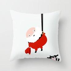 Hanging Santa Throw Pillow
