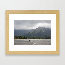 nothshore kauai Framed Art Print