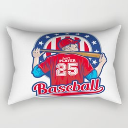USA Baseball Player Sports Art Print Rectangular Pillow
