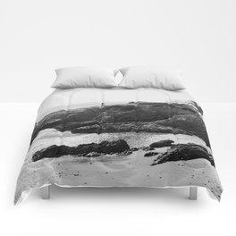 Leo Carrillo State Beach | Malibu California | Black and White Photography | Malibu Photography Comforters