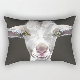 Patsy Goat Art Rectangular Pillow
