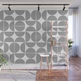 Mid Century Modern Geometric 04 Grey Wall Mural