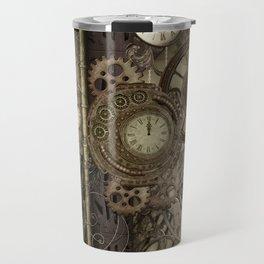 Steampunk, clocks and gears Travel Mug