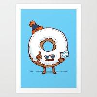 The Chicago Donut Art Print