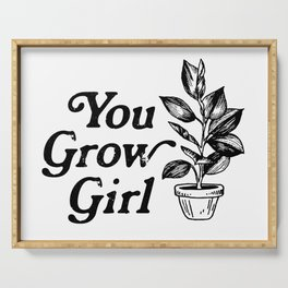 You Grow Girl Serving Tray