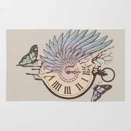 Le Temps Passe Vite (Time Flies) Rug