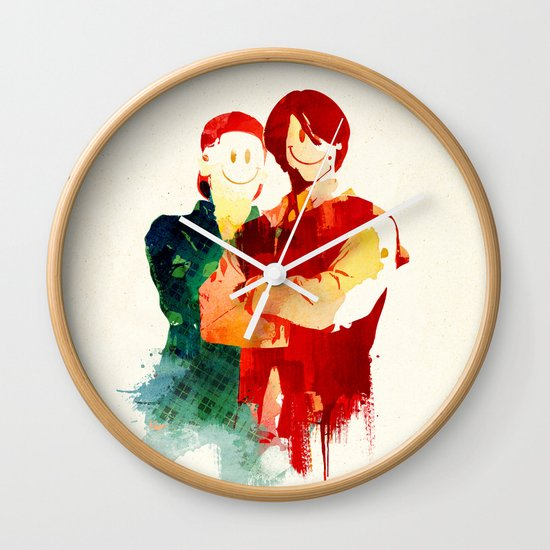 Time Travellers Wall Clock