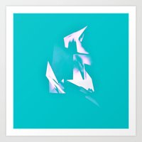 polygon Art Prints featuring Polygon by Frances Marvell