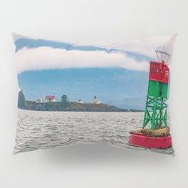 Sea lions relaxing on floating buoy in Auke Bay, Alaska Pillow Sham