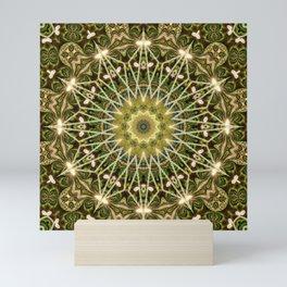 Geometric Forest Mandala Mini Art Print