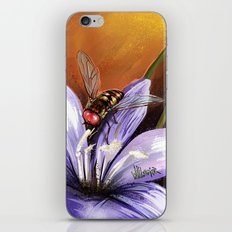 Fly on flower 10 iPhone & iPod Skin