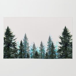 MOUNTAIN FOREST PINES LANDSCAPE  ART Rug