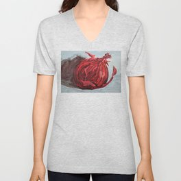 red onion Unisex V-Neck