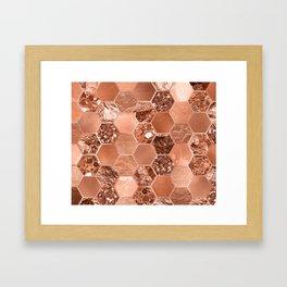 Rose gold hexaglam blonde Framed Art Print