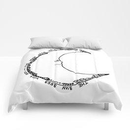 Moon Doodle Comforters
