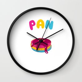 Pan Cake Pride Funny Graphic Pansexual T-shirt Wall Clock