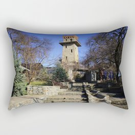 Ancient watchtower. Rectangular Pillow