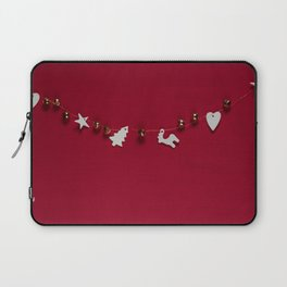 Christmas Decorations on Red (Color) Laptop Sleeve