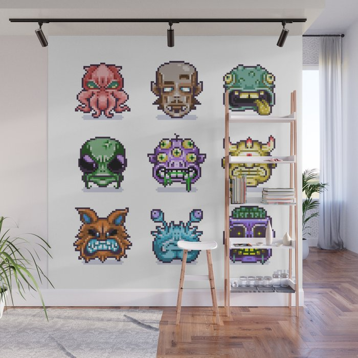 Monster Faces Wall Mural