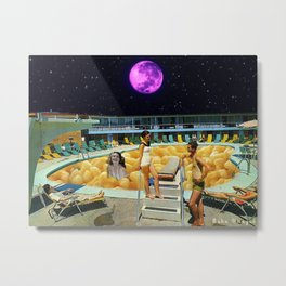 swimming in mac n cheese Metal Print