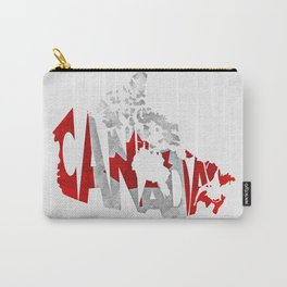 Canada Typographic World Map / Canada Typography Flag Map Art Carry-All Pouch