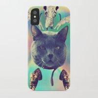 saga iPhone & iPod Cases featuring galactic Cats Saga 3 by Carolina Nino
