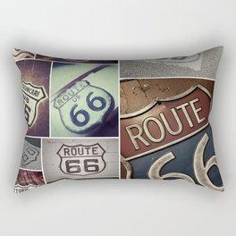 Historic U.S.  old Route 66. Rectangular Pillow