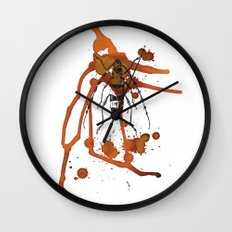 Insect in Ink 01 Wall Clock