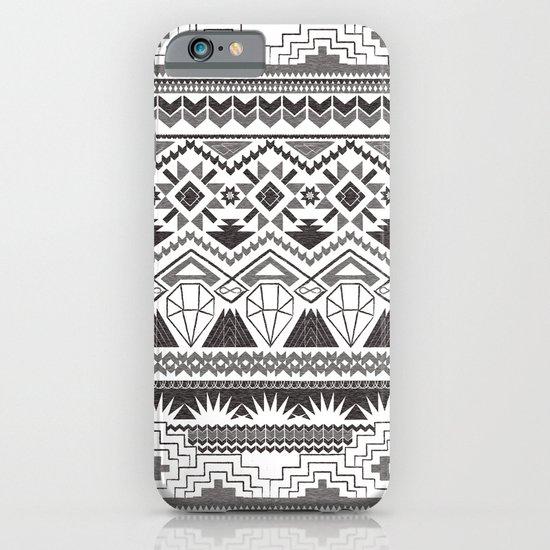 CRYSTAL AZTEC B/W  iPhone & iPod Case