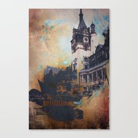 castlevania Canvas Prints featuring Castlevania by Esco