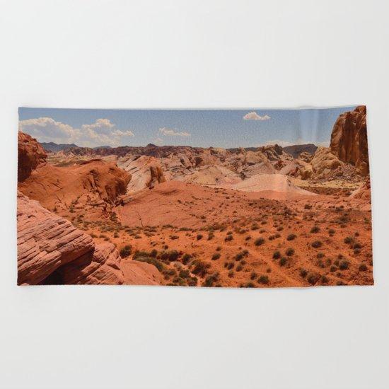 Red Valley II Beach Towel
