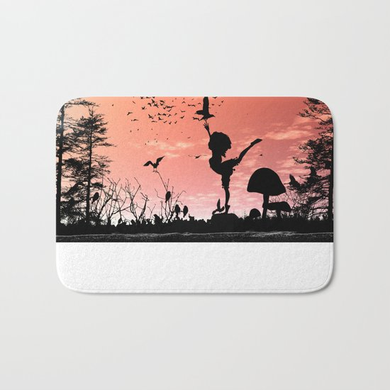 Dancing with the birds Bath Mat