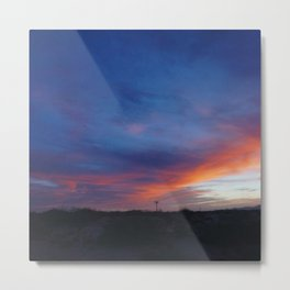 Painted Texan Skies Metal Print