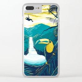 costa rica rainforest Clear iPhone Case