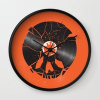 shaun of the dead Wall Clocks featuring Shaun of the dead by Wharton