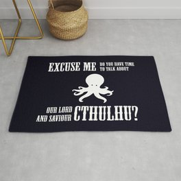 Our Lord And Saviour Cthulhu Rug