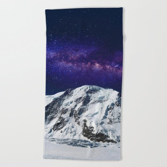 Snow + Galaxy #society6 #decor #buyart Beach Towel