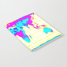 World Map: Gall Peters Colorful Notebook