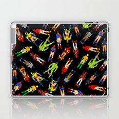 Superhero Butts Pattern (Dark) Laptop & iPad Skin