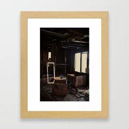 Abandoned crates Framed Art Print