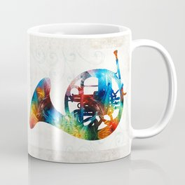 Colorful French Horn - Color Fusion By Sharon Cummings Coffee Mug