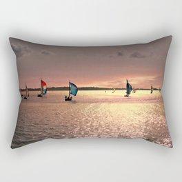 Sunset Sail In Bermuda Rectangular Pillow