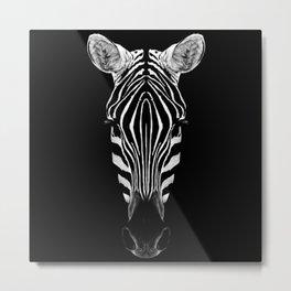 Zebra Sym Metal Print