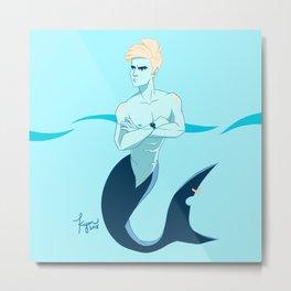 Late for Shark School Metal Print