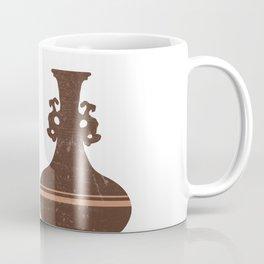 Greek Pottery 29 - Clay Vases - Terracotta Series - Modern, Contemporary, Minimal Abstract - Auburn Coffee Mug