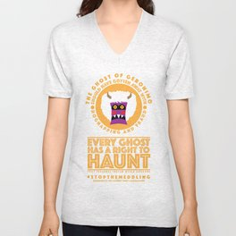STOP THE MEDDLING - The Ghost of Geronimo Unisex V-Neck