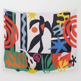 inspired to Matisse (black) Wall Tapestry